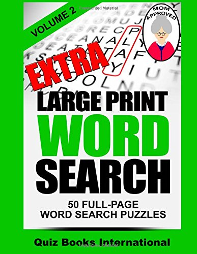 Extra Large Print Word Search product image
