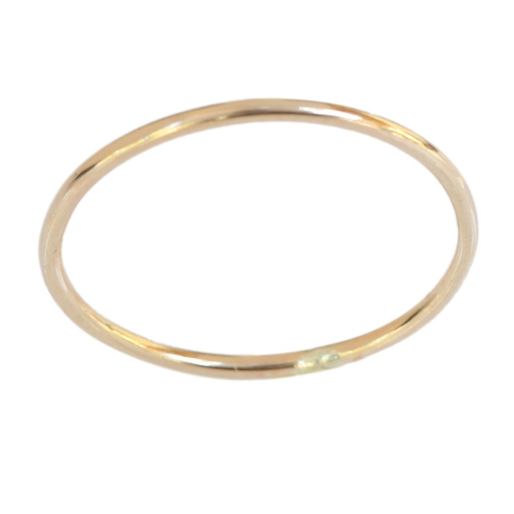 Gold Filled 1mm Thin Plain Band Toe Ring (Not Plated) California Toe Rings r02
