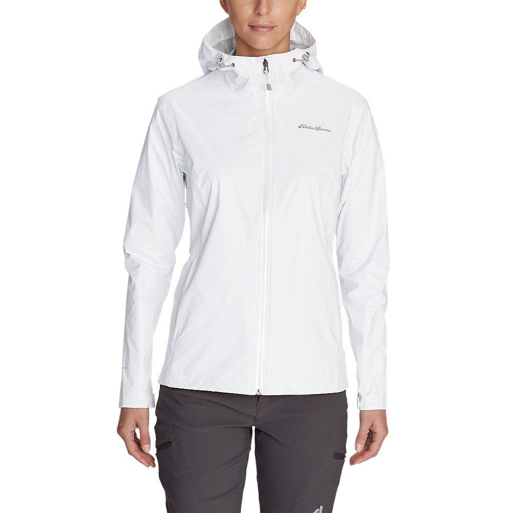 Eddie Bauer Women's Cloud Cap Lightweight Rain Jacket, White Petite XS