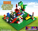 Creative Builders Building Brick Baseplates, 10 x 10-Inch Giant (4 Pack) - Green