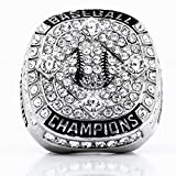 Signature Baseball Championship Ring w/Clear Stones