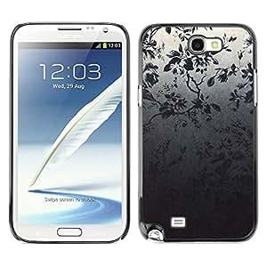 TECHCASE**Cubierta de la caja de protección la piel dura para el ** Samsung Galaxy Note 2 N7100 ** Wallpaper Tree Branch Grey Night Forest
