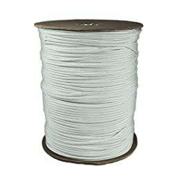 1000\' Foot Spool White Parachute Cord 7-Strand Core 550 Cord