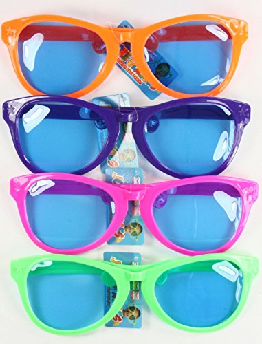 Giant Sunglasses, Assorted Bright Colours, Unisex