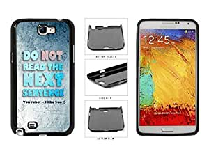 Little Rebel Do Not Read the Next Sentence Plastic Phone Case Back Cover Samsung Galaxy Note II 2 N7100