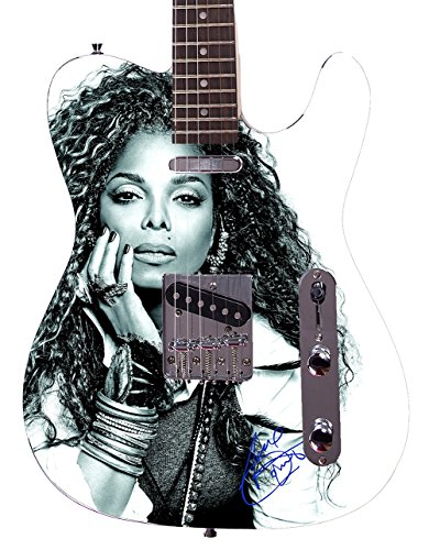 Janet Jackson Autographed Signed Custom Graphics Guitar