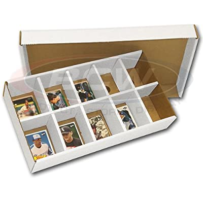 One (1) BCW Sorting Tray (10 Slots) - Corrugated Cardboard Storage Box - Baseball & Other Sports / Gaming Trading Cards Collecting Supplies: Sports & Outdoors