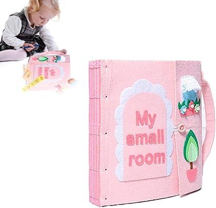Juguetes Actividad Libro De Tela Montessori Tableros De Aprendizaje 24 X 22 X 5 CM Childlike Libros Blandos De Fieltro para Beb/é