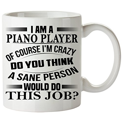 [PIANO PLAYER Mug 11 Oz - PIANO PLAYER Gifts - Unique Coffee Mug, Coffee Cup #02] (Baseball Player And Referee Costume)