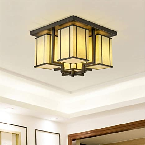 Luz de techo 5W LED Luz amarilla Cubierta de techo Estilo de ...