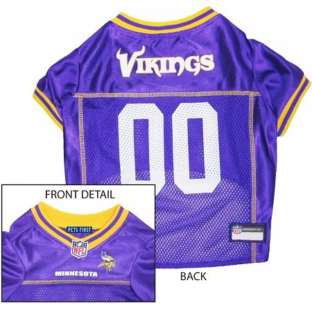 Pets First Official NFL Minnesota Vikings Jersey Large by Pets First