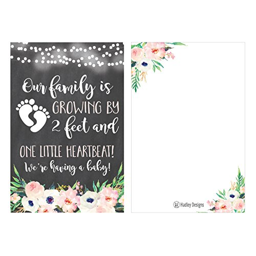25 Pregnancy Announcement Card Set, We're Expecting Baby Surprise Having Birth Reveal Only Best Friends Get Promoted To Auntie Aunt Uncle Grandpa Grandma Grandparent Sister Brother Family Dad Mom (Best Birth Announcement Cards)