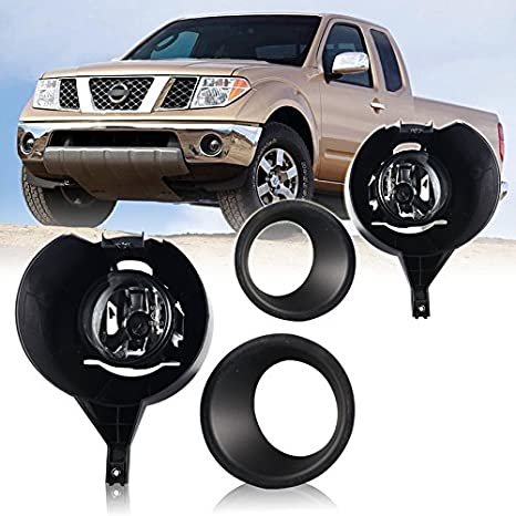 Winjet Factory Style Clear Lens Fog Light Kit For Nissan Frontier 2005 2015  (w