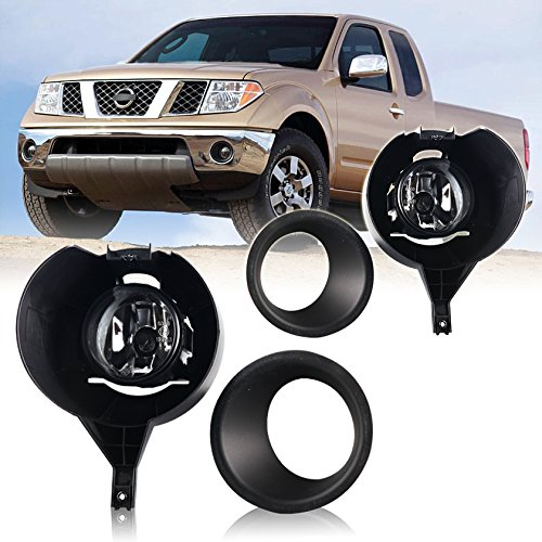 Style Fog Lights Kit - Winjet Factory Style Clear Lens Fog Light Kit For Nissan Frontier 2005-2015 (w/Metal Bumper Only) Wiring Kit and Bezels Included