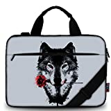 Best ICOLOR Laptop Sleeves - iColor Wolf Canvas Laptop Carrying Shoulder Sleeve Case Review