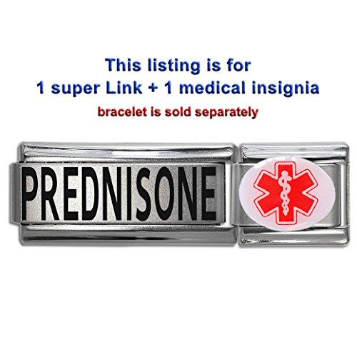 Prednisone  Dolceoro Italian Charm Medical Id Modular Enamel   Super Link