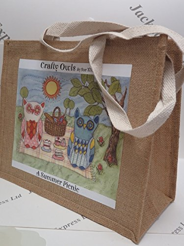 Large Owls Medium Designs Hessian Range Hatchling Crafty Jute Picnic to Summer New Jackdaw Express Large Medium Bag in 3 choose or from w8xA4XqF