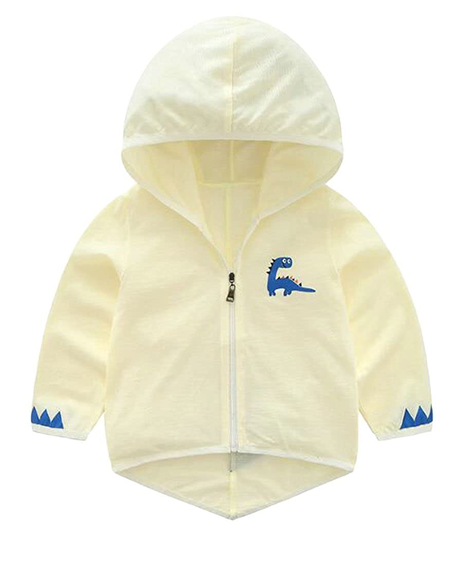 KLJR Big Boy Sun-Protection Zip-Front Thin Summer Floral Hooded Jacket Coat one 4