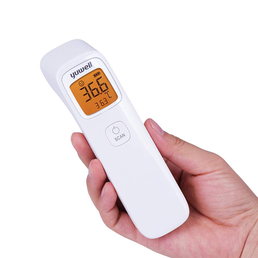 Yuwell Baby Forehead Thermometer, Non-Contact Digital Fever Thermometer for Adults Kids Baby Body Surface Temperature Measurement, Accurate Instant Reading with Backlight LCD Display by Smartime