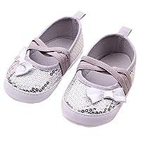 Itaar Toddler Infant Prewalker Sequin Bowknot Sneaker Baby Crib Shoes