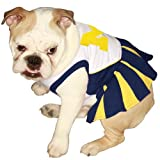 Pets First NCAA University of Michigan Wolverines Cheerleader Dog Outfit - X Small