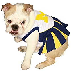 Ncaa University Of Michigan Wolverines Cheerleader Dog Outfit, X Small
