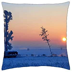 Wonderful winter morning - Throw Pillow Cover Case (18