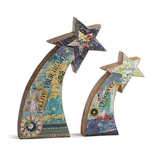 DEMDACO Kelly Rae Roberts Shooting Star Sculpts - Set of 2