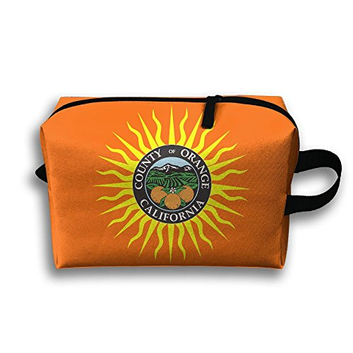 Flag Of Orange County California Travel Cosmetic Bags Small Makeup Clutch Pouch Cosmetic And Toiletries Organizer Bag