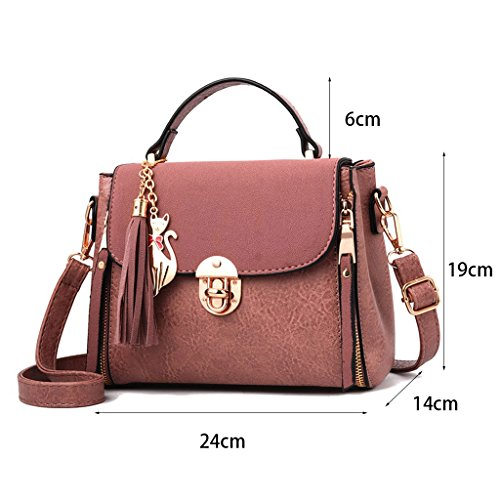 24 Leather 14 Pu Messenger Bag Shoulder Pink Brown Leisure Summer Bag 19cm Bags Tote Ladies Popular Female Shoulder Most color Z6qnpRgq