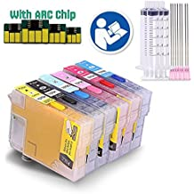 INKUTEN (TM) Sublimation Refillable Ink Cartridges Full Set For T0781/2/3/4/5/6 Artisan 50 Stylus Photo R260 R280 R380 RX580 RX595 RX680 Printers (Sublimation Ink, Heat Transfer Printing)