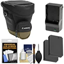 Canon Zoom Pack 1000 Digital SLR Camera Holster Case with (2) LP-E12 Batteries + Charger + Accessory Kit for Rebel SL1