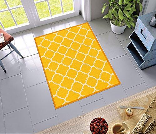 Yellow Lattice (Non-Skid Slip Rubber Back Antibacterial 3x5 ( 3'3