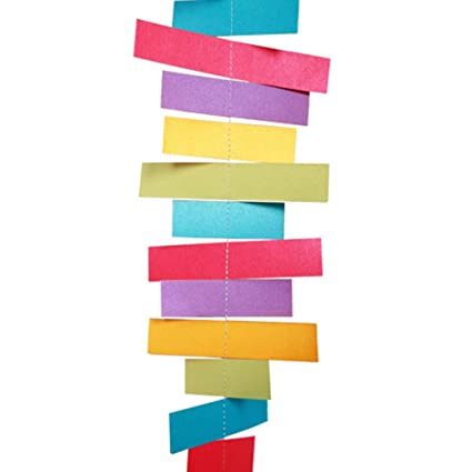 Amazon.com: Phoenixb2c Popular Rectangular Paper Bunting ...