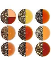 VAHDAM, blandat löst bladte - 10 TEAS, 50 portioner - svart te, grönt te, Oolongte, Chai-te, vitt te | Tea Variety Pack | Hot, Iced, Kombucha Tea | Loose Leaf Tea Sampler Gift