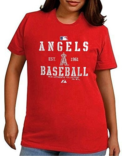 Los Angeles Angels MLB Womens Authentic Est. 1961 Shirt Red Plus Sizes – DiZiSports Store