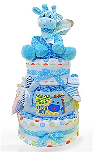 A Star Is Born! Baby Boy 3 Tiered Diaper Cake