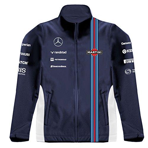 The Williams Martini Team Softshell Track Jacket, XXX-Large