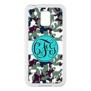 Bhite Striped Blue Monogram in The Army Camouflage Background Design Fashion Custom Luxury With Plastic For Case Ipod Touch 4 Cover