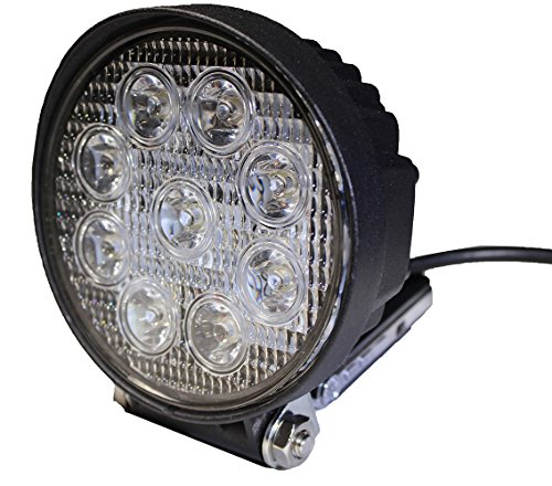 LotFancy Waterproof Driving Lights - 2PCS 27W Round Flood Led Work Light for Off Road Truck Jeep UTV ATV Cars Marine Boat