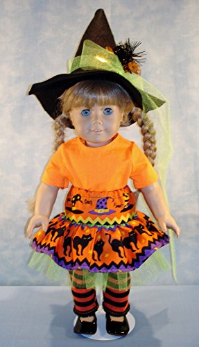 18 Inch Doll Clothes - Modern Colorful Witch Halloween Costume made by Jane Ellen to fit 18 inch dolls -