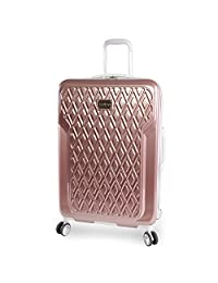 "BEBE Women's Luggage Stella 29"" Hardside Check in Spinner, Rose Gold"
