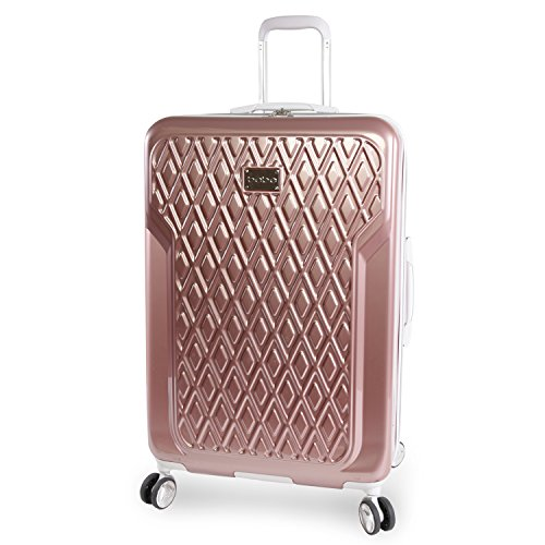 BEBE Women's Luggage Stella 29'' Hardside Check in Spinner, Rose Gold by bebe