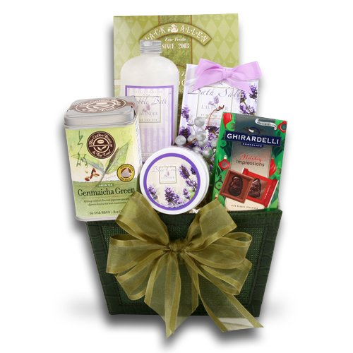 Relaxation Spa with Green Tea Gift Basket | Lavender Scented
