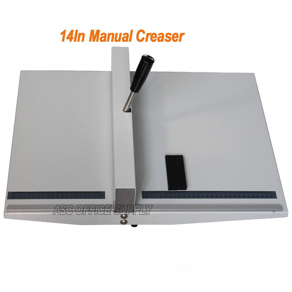 Manual 14'' 360mm Scoring Paper Creasing Machine Scorer Creaser + 2Magnetic Block by Creasing Machine