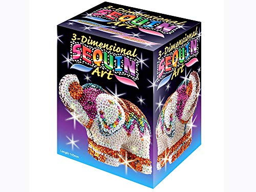 Sequin Art 3D, Elephant, Sparkling Arts and Crafts  3D Art Kit; Creative Crafts for Adults and -