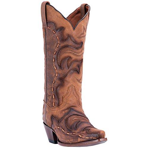 Dan Post Womens Tan/Brown Fashion Boots Leather Cowboy Boots Snip Toe 8.5 M