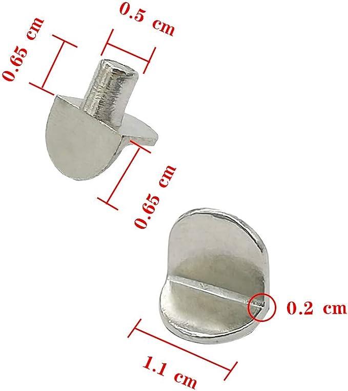 Perni di Supporto 80 Pezzi 5mm Mollette Supporto per Mensole in Legno e Vetro