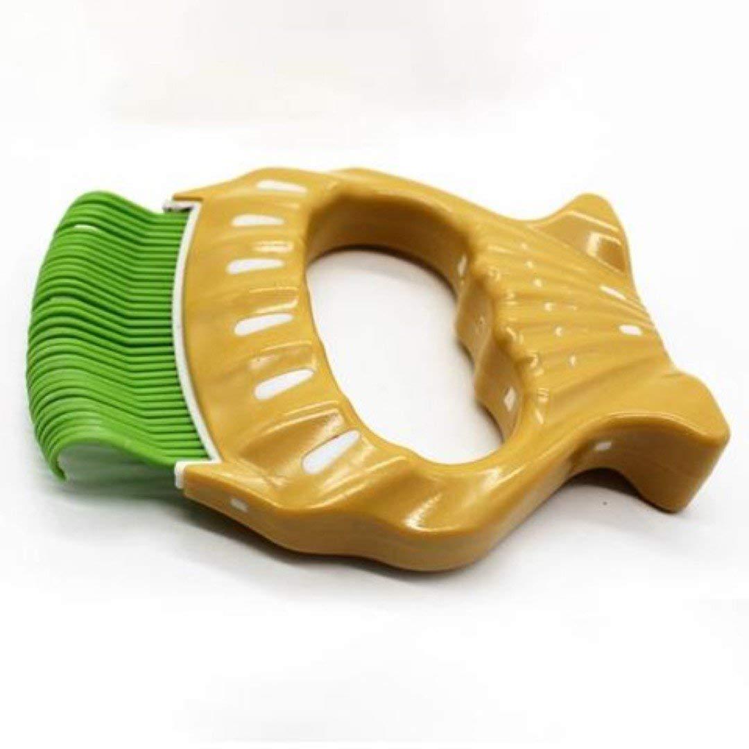 Green Pet Deshedding Tool,Grooming Brush Pet Tool for Slicker Comb Soft Removing Hair Cat Dog Comb(Three colors),Green