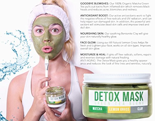 GREEN-TEA-DETOX-FACE-MASK-By-Teami-Our-100-Best-Facial-Care-Mud-Masks-with-Bentonite-Clay-for-a-Natural-Hydrating-Cleanse-of-Dry-Skin-that-Removes-Blemishes-Antioxidant-Moisturizing-Anti-aging